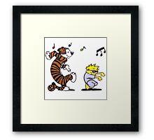 Calvin and Hobbes Dancing Framed Print