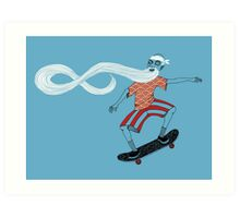 The Ancient Skater, Forever Skate ukiyo e style Art Print