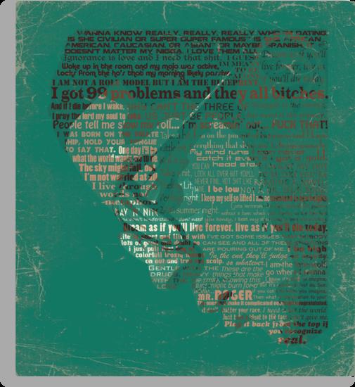 Typographic Icons - KiD CuDi by Ben Rhys-Lewis
