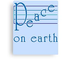 Musical Scale Peace on Earth  Canvas Print