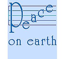 Musical Scale Peace on Earth  Photographic Print