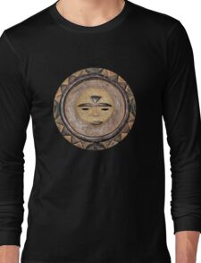 Sun Mask from Cameroon Long Sleeve T-Shirt