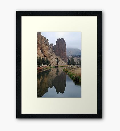 Crooked River at Smith Rock State Park Framed Print