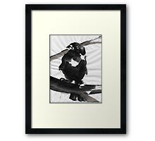 Sumi Bird Framed Print