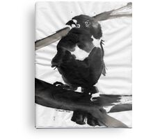 Sumi Bird Metal Print
