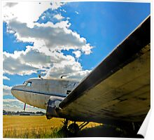 Old DC-3 Poster