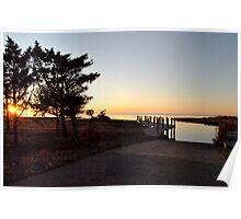 Pamlico Sunset Poster