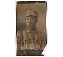 Benjamin K Edwards Collection Kid Nichols Boston Beaneaters baseball card portrait Poster