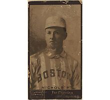 Benjamin K Edwards Collection Kid Nichols Boston Beaneaters baseball card portrait Photographic Print