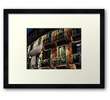 Rooms With A View - Venice, Italy Framed Print