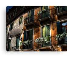 Rooms With A View - Venice, Italy Canvas Print