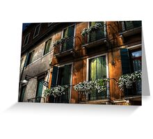 Rooms With A View - Venice, Italy Greeting Card