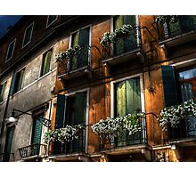 Rooms With A View - Venice, Italy Photographic Print