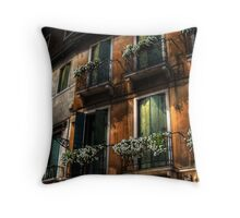 Rooms With A View - Venice, Italy Throw Pillow