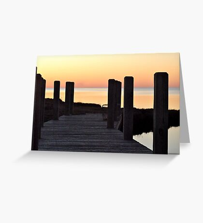 Salvo Sunset Greeting Card