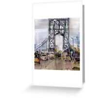 George Washington Bridge - New Jersey Greeting Card