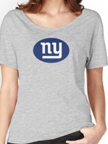 ny - GIANTS - Blue Euro Sticker Women's Relaxed Fit T-Shirt