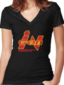InGen  Women's Fitted V-Neck T-Shirt