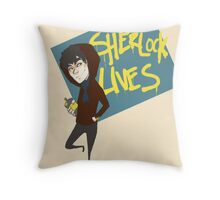 Sherlock Lives  Throw Pillow