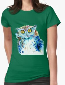 """Owl"" Womens Fitted T-Shirt"