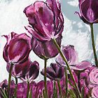 Purple Tulips by Marilyn Brown