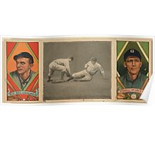 Benjamin K Edwards Collection Neal Ball Geo T Stovall Cleveland Naps St Louis Browns baseball card portrait Poster