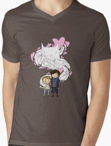 Sherlock and John: Cat jumper Mens V-Neck T-Shirt