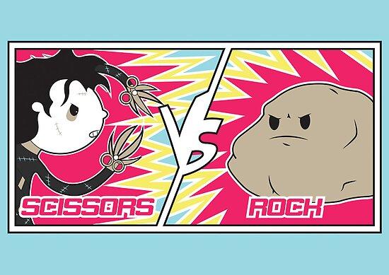Scissors Vs Rock by Scott Weston