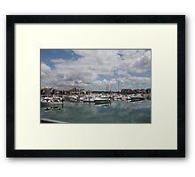 Quiet Marina Reflections Framed Print
