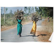 Carrying Firewood Poster