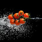 Cherry Tomato Splash 2 by Andrew Bret Wallis