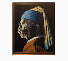 WEIMARANER WITH PEARL EARRING Unisex T-Shirt