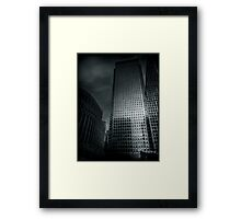 One Canada Square Framed Print