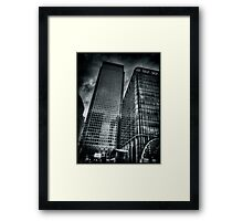 Canada Square Light and Reflections Framed Print