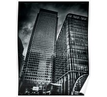 Canada Square Light and Reflections Poster