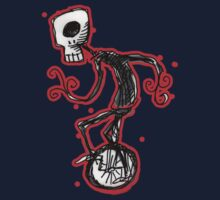 cyclops on a unicycle Kids Tee