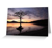 Loch Lomond Sunset Greeting Card