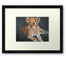 Cute lion cub Framed Print