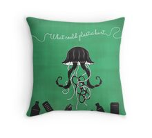 What Could Plastic Hurt? Jelly by Sarah Pinc Throw Pillow