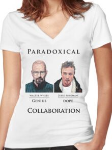 Paradoxical Collaboration Women's Fitted V-Neck T-Shirt