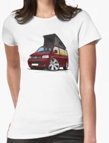 VW T5 California Camper Van Dark Red T-Shirt
