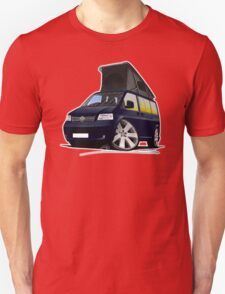 VW T5 California Camper Van Dark Blue T-Shirt