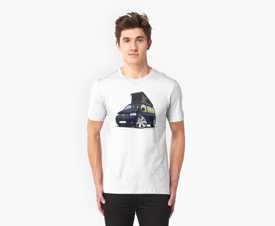 VW T5 California Camper Van Dark Blue by Richard Yeomans