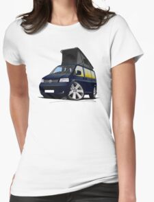 VW T5 California Camper Van Dark Blue T-Shirt