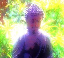 Buddha in the Earth Garden by QuantumResults