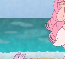 Beach Babe Rose Quartz + Amethyst Puppy Sticker