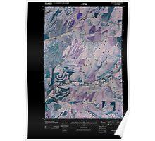 USGS Topo Map Washington State WA Huntsville 20110404 TM Inverted Poster
