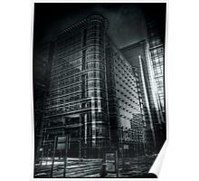 Canada Square BW Poster