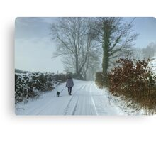 The Sunday Walk Series..Walking The Dog Canvas Print