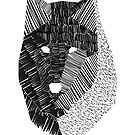 Wolf Mask Print by ayarti